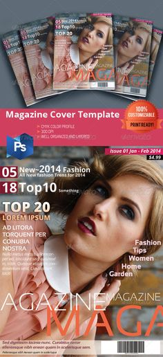 Multipurpose Magazine Cover — Photoshop PSD #corporate #design • Available here → https://graphicriver.net/item/multipurpose-magazine-cover/6549459?ref=pxcr