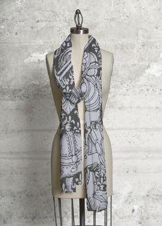 Chivalry in Gray   #shopvida #womans #fashion #designer #tops #designer #scarves