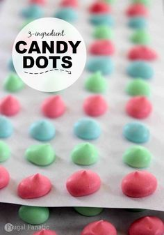 Your kids will love this no-bake 3 ingredient homemade candy dots recipe!