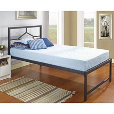 If you like efficiency and convenience without sacrificing luxury, this beautiful twin-size bed may be just the right fit.