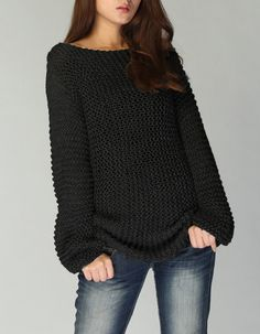 Garter stitch sweater, inspo