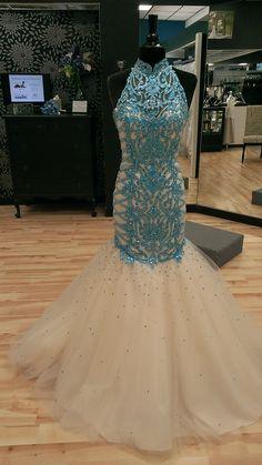 High Neck Low Back Prom Dress | Shop Bridal Cottage