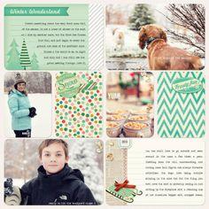 Digital Project Life | Winter Theme Pack by JennMcCabe @2peasinabucket