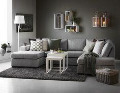 Nevada 3-sits soffa med divan och schäslong i tyg Rocco grey från Mio. @tiinatolonen