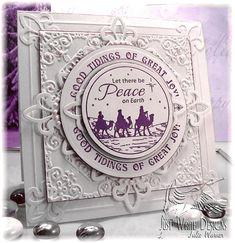 Peace Christmas card, die cut, embossed Just Rite image