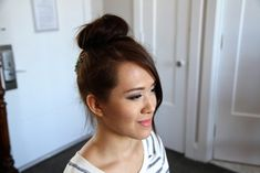 Teased High Bun | Updo Hairstyles | Prom and more Hairstyles from CuteGirlsHairstyles.com