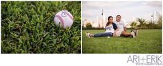 •arianderik.com || Ari + Erik Baseball Engagement Photography NYC•