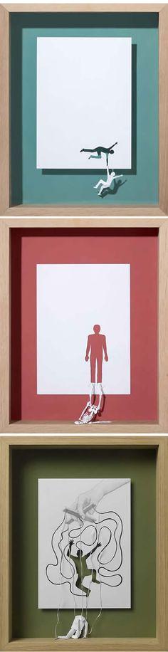 Deep papercuts by Peter Callesen