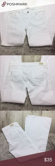 """Anthropologie Paige the bundy jeans Anthropologie Paige the bundy jeans cotton and spandex blend inseam 32"""" rise 8.5"""" Anthropologie Jeans Flare & Wide Leg"""