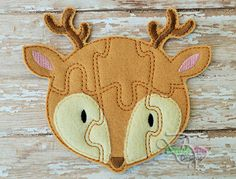 Buck / Deer Felt Puzzle and many more items are available for purchase at https://www.etsy.com/shop/SchoolhouseBoutique