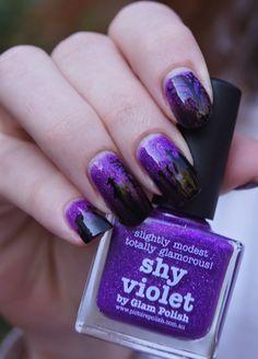 shy violet picture polish @picturepolish nails nail art halloween