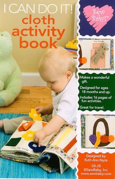 Sew Baby 28 SewBaby I Can Do It Cloth Activity Book Pattern
