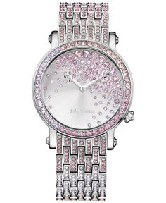 Juicy Couture Women's Crystal Accent Stainless Steel Bracelet Watch 36mm 1901347