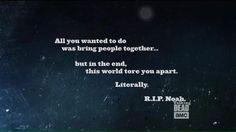 RIP Noah -The Walking Dead