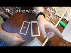 DIY Miniature Dollhouse Window Build - YouTube I've also pinned this to Plans for dollhouse cottage.  Great video.