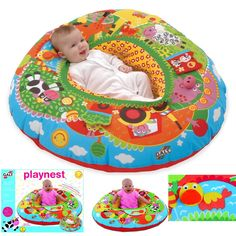 Galt Playnest Farm Covered Inflatable Ring Kitchen Bar New America Baby New #GaltAmerica