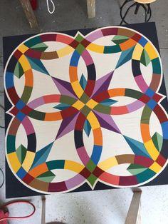 Barn Quilt Designs, Barn Quilt Patterns, Quilting Designs, Barn Quilts For Sale, Painted Barn Quilts, Barn Signs, Hanging Quilts, Wedding Ring Quilt, Wooden Barn