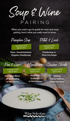 Winter means one thing – it's time for soup, soup and more soup. Here's our simple guide to matching wines to what we think are five of Australia's all-time favourite winter soups. Charcuterie And Cheese Board, Cheese Boards, Comidas Fitness, Traveling Vineyard, Pinot Noir Wine, Wine Guide, Birthday Brunch, Winter Soups, Wine Cheese