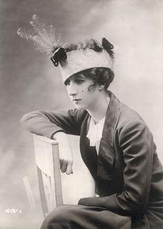 She looks kind of depressed.  (1913 - 1915)