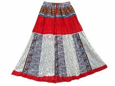 Amazon.com: Long Skirt Red White Patchwork Boho Crinkled Maxi Skirts for Womens: Clothing #longskirt #gypsyskirt #hippieskirt #bohoskirt #peasantskirt #wraparoundskirt #mogulinterior.com Hippie Skirts, Boho Skirts, Maxi Skirts, Peasant Skirt, Wrap Around Skirt, Gypsy Skirt, Bohemian Gypsy, Crinkles, Cheer Skirts