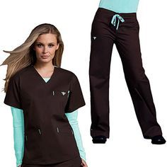 This women's scrub set from Med Couture includes a V-neck scrub top and drawstring scrub pants. The fabric is EZ Flex: a comfortable cotton, polyester and spandex blend. This scrub set will flatter you and move with you all day long. Healthcare Uniforms, Medical Uniforms, Scrubs Outfit, Scrubs Uniform, Magenta, Med Couture Scrubs, Medical Scrubs, Nursing Scrubs, Lpn Nursing