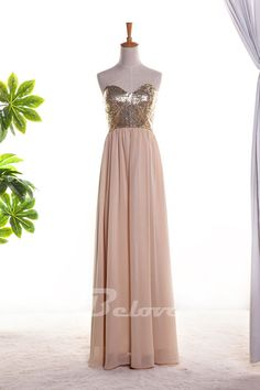 """Fabric:Chiffon++ Color:Nude+++ Neckline:Sweetheart+++Embellishments:Sequins+++ Occasion:Prom+,Evening+ Custom+Made+:+We+also+accept+custom+made+size+and+color+.+Please+click+the+""""contact+us+""""and+send+your+size+and+color+to+our+email+.+Or+just+leave+a+message+to+us+when+placing+the+order+."""