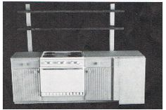 Drop-in stove (c. 1980s). Complete plans, patterns, and instructions for 1/12th scale model. Article includes an entire kitchen, including appliances and cabinets. In The Scale Cabinetmaker, Volume 8:6, available as a pdf download from dpllconline.com.