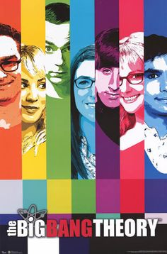 Big Bang Theory Test Pattern Cast Art TV Show Poster 22x34 – BananaRoad