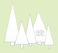 Christmas Tree Cut Out Template Christmas Tree Cut Out, Christmas Tree Template, Christmas Pillow, Christmas Crafts For Kids, Xmas Crafts, Christmas Projects, Xmas Tree, Winter Christmas, Christmas Stuff