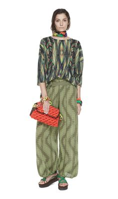 #MMissoni | Ikat maxi sweater and palazzo pants | Summer 2014 Collection