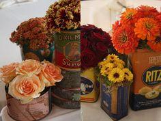 vintage floral centerpieces
