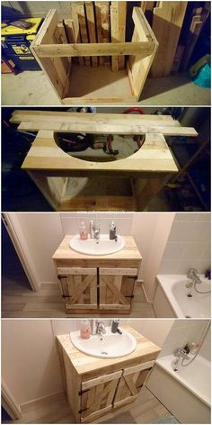 Pallet Sink and Cabinet