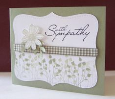Sympathy Cards • Like the die-cut white panel