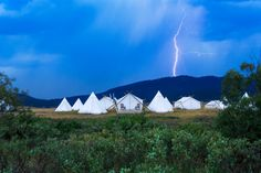 Top Glamping destinations of 2015. IG: nomad_musings Yellowstone Under Canvas.