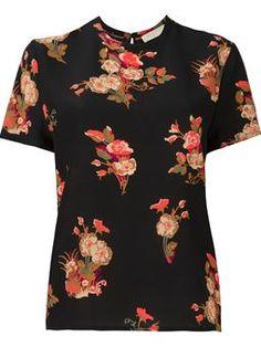 floral print T-shirt £475 #Farfetch womensfashion #Valentino