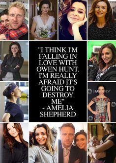 """""""I think I'm falling in love with Owen Hunt. I'm afraid it's going to destroy me."""" - Amelia Shepherd fan art"""