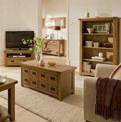 Elegant Bordeaux Rustic Oak Living Room Furniture Images