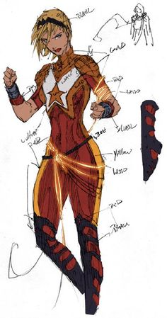 Diana Prince as the New Wonder Woman: 2011 Rejected DCnÜ Wonder Girl Concept Art by Brett Booth