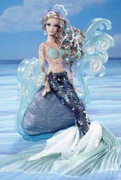 The Mermaid Fantasy Gold Label Barbie Doll | eBay