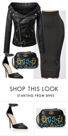 """""""Untitled #6188"""" by stylistbyair ❤ liked on Polyvore featuring Valentino and Gucci"""