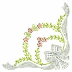 Elegant Corner embroidery design