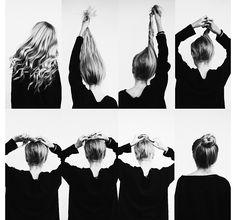 How to put your hair in a bun. Bun. Hair. Long hair. How to hair. Hairstyle. #instagram #hair