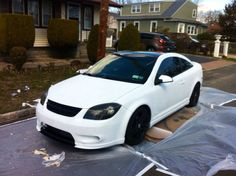 Matte white, Chevy Cobalt. 2010 Chevy Cobalt, Chevrolet Cobalt Ss, Car In The World, Sexy Cars, Cool Cars, Dream Cars, Jeep, Automobile, White Rims