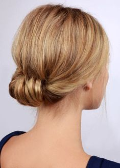 We Found the 21 Best Lazy Girl Hairstyles on Pinterest, So You Don't Have To | Low Rolled Updo