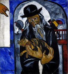 Rabino con gato  1912  neo primitivismo ruso