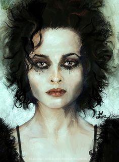 Helena Bonham Carter - Marla Singer • Fight Club [painting].