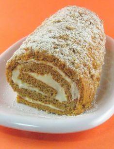 One Perfect Bite: Pumpkin Roll - A Little Pumpkin - Outdoor Wednesday Thanksgiving Recipes, Fall Recipes, Holiday Recipes, Holiday Treats, Just Desserts, Delicious Desserts, Dessert Recipes, Yummy Food, Food C