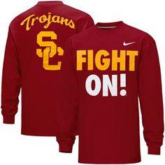 Nike USC Trojans Fight On Long Sleeve T-Shirt - Cardinal