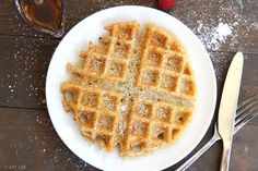 Liv Life: Vegan Crispy Belgian Waffles with Flax and Vanilla