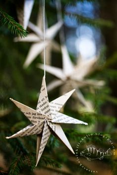 diy jouluaskartelu, paperiorigami taittelu - Marina K - Holidays Swedish Christmas, Scandinavian Christmas, Christmas Paper, Diy Christmas Ornaments, Christmas Time, Diy Y Manualidades, Holiday Crafts, Holiday Decor, Navidad Diy